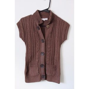 Brown sleeveless sweater